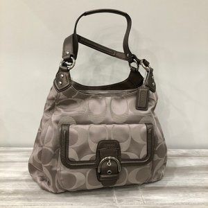 COACH Campbell Signature Hobo Handbag
